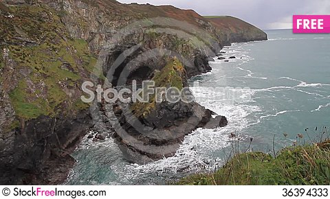 Free Autumn Colours On Cornwall Coastline St Agnes England Stock Photos - 36394333
