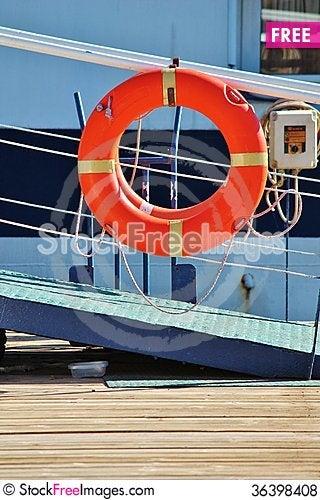 Free Life Belt On Boat Walk Way Royalty Free Stock Photos - 36398408