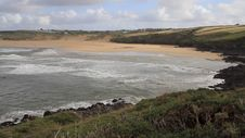 Free Crantock Bay Beach Cornwall England United Kingdom Stock Image - 36392361