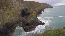Autumn Colours On Cornwall Coastline St Agnes England Stock Photos
