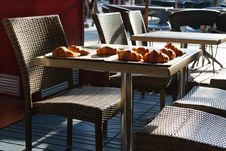 Free Croissant Breakfast In The Street Royalty Free Stock Images - 36394689