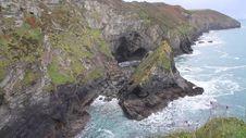 UK Cornish Coast At St Agnes Cornwall In Autumn Royalty Free Stock Photos