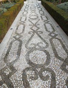 Free Alhambra Mosaic Garden Path Stock Image - 36396191