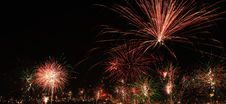 New Year S Eve Fireworks In The City Of Arequipa, Peru Stock Photo