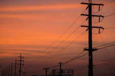 Free Electricity Post Stock Photo - 36398360