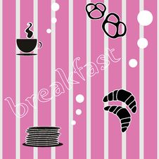 Pattern Breakfast. Stock Photography