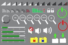 Free Set Of Signal, Progress Scale Bar Stock Image - 36399411