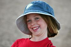 Free Young Girl In A Hat Stock Images - 36399714