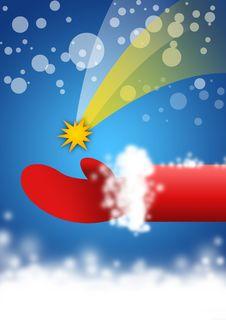 Free Santa  S Hand, Christmas Skies, Starry Night Royalty Free Stock Photo - 3640665