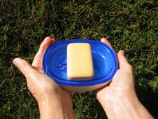 Free Soapdish And Toilet Soap Royalty Free Stock Photos - 3640918
