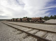 Free Railroad Station With Wagons Royalty Free Stock Photography - 3640927