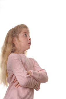 Free A Childs Serious Surprised Expression Stock Photography - 3641152