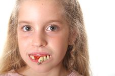 Free Pretty Little Girl With Ugly Teeth (copy Space Rig Stock Photography - 3641172