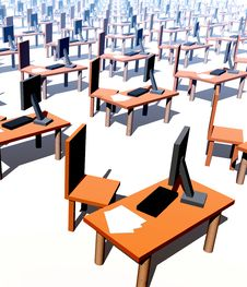 Many Desks With Chairs 2