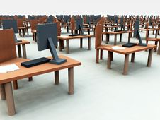 Many Desks With Chairs 3