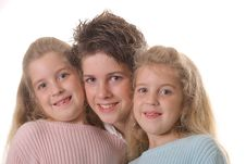 Free Three Siblings On White Stock Photo - 3641280