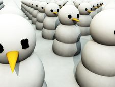 Free Army Of Snowman 2 Royalty Free Stock Photography - 3641447