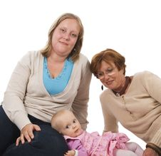 Free Three Generations 11 On White Royalty Free Stock Photos - 3641828