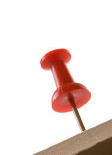 Red Pin In Foamboard Stock Image