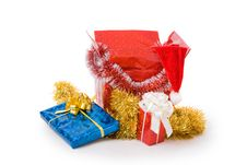 Free Christmas Box With Gifts Royalty Free Stock Images - 3642579