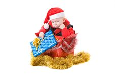 Infant With Gifts In Box 5 Royalty Free Stock Image