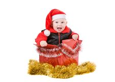 Free Happy Infant In Box 2 Stock Photography - 3642602