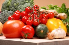 Free Set Of Different Vegetables Royalty Free Stock Images - 3642909