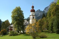 Free Church In Mountains Landscape Stock Photos - 3643703