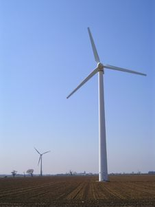 Free Wind Turbines Stock Photography - 3644092