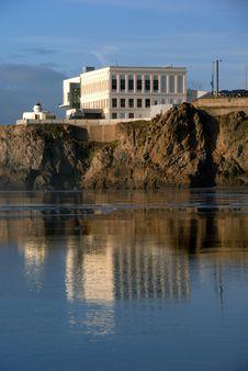 Reflection At Ocean Beach Royalty Free Stock Image