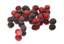 Free Wet Cranberries On Mirror Stock Image - 3644191