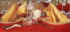 Dinner Table With Two Dishes Royalty Free Stock Image