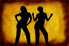 Free Dancers On A Grunge Background Stock Photography - 3644902