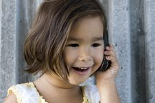 Free Girl On The Phone 03 Royalty Free Stock Photo - 3645245