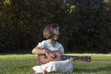 Girl With Guitar 02 Stock Photos