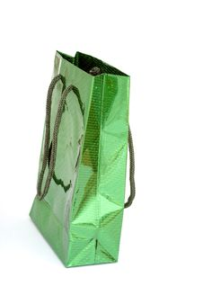 Green Present Bag Royalty Free Stock Photography