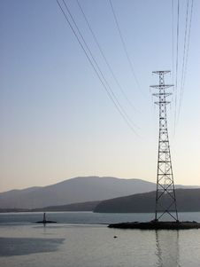 Free Lighthouse And Power Transmission Tower Stock Photo - 3646990