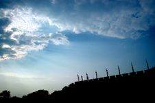 Free Dusk Xian City Wall Royalty Free Stock Photo - 3647645