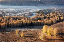 Autumn Village Hemu Stock Photos