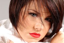 Free Beautiful Dark Haired Woman Stock Photography - 3648462
