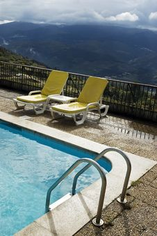 Free Long Chairs By The Pool 3 Stock Image - 3648851