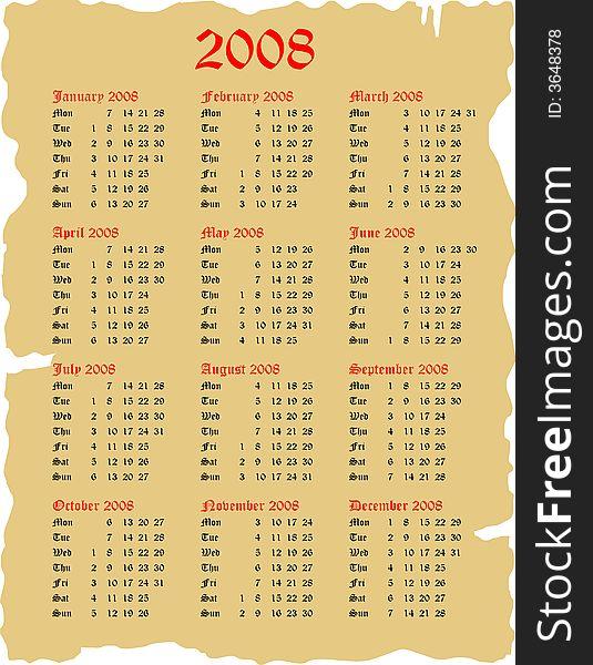 Goth 2008 Calendar Free Stock Images Photos 3648378