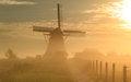 Free Foggy Sunrise At Windmill Royalty Free Stock Image - 36402806