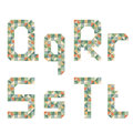 Free Geometric Style Font, Colorful Vector Letters. Stock Photography - 36407482