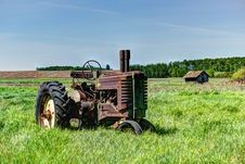 Abandoned Tractor Royalty Free Stock Image