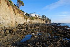Victoria Beach Cliff Side Homes In South Laguna Beach, California. Royalty Free Stock Image