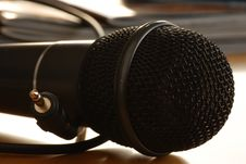 Free Black Microphone Closeup Royalty Free Stock Images - 36402309