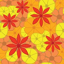 Seamless Bright Floral Pattern. Vector Illustratio Stock Photo