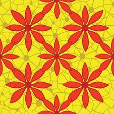 Free Seamless Bright Floral Pattern. Vector Illustratio Stock Photo - 36408870