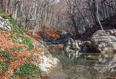 Free Crimea Mountain Rivers Stock Photography - 36409682